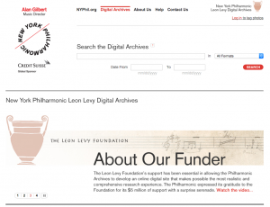 New York Philharmonic Digital Archives Usability Study