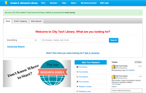 CityTech Library Responsive Prototype Diary Study