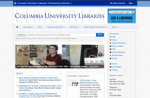 columbia libraries screenshot