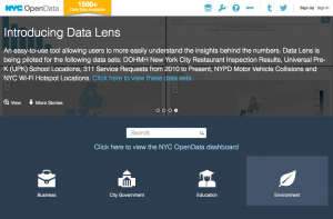 nyc open data screenshot